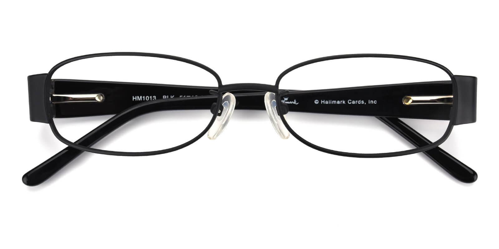 Janniey-Black-Rectangle-Metal-Eyeglasses-detail