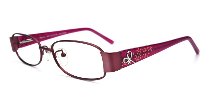 Janniey-Purple-Eyeglasses / Fashion / NosePads / SpringHinges