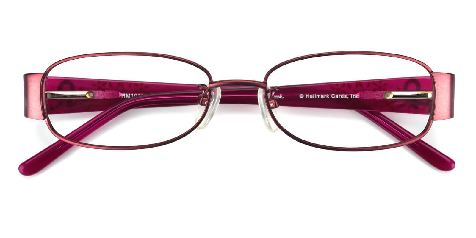 Janniey-Purple-Rectangle-Metal-Eyeglasses-detail