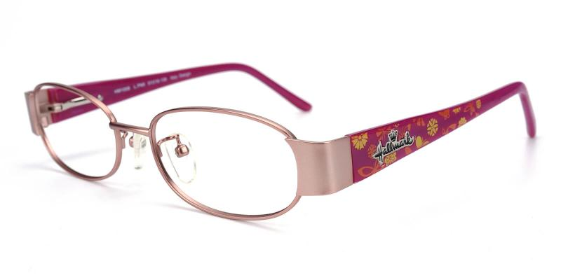 Angeline-Pink-Eyeglasses / Fashion / NosePads / SpringHinges