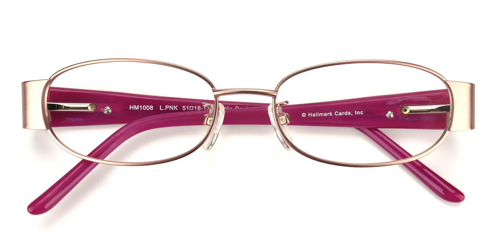 Angeline-Pink-Rectangle-Metal-Eyeglasses-detail