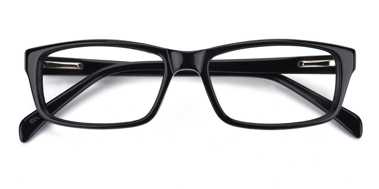 Dummer-Black-Rectangle-Acetate-Eyeglasses-detail