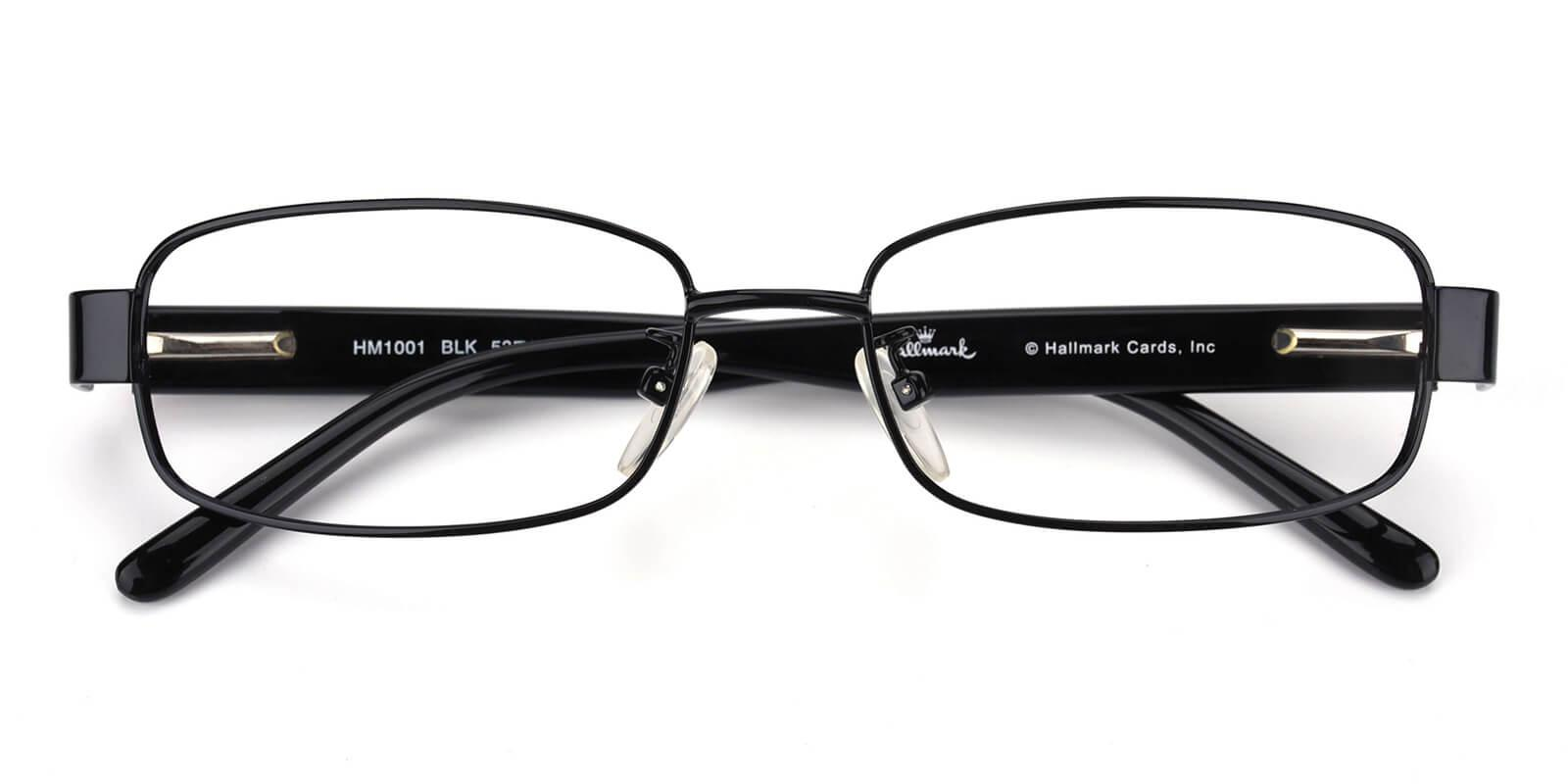 Katelley-Black-Rectangle-Combination-Eyeglasses-detail
