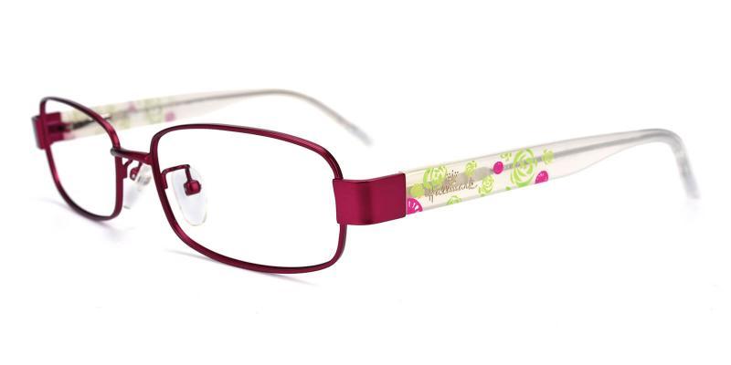 Katelley-Purple-Eyeglasses / Fashion / NosePads / SpringHinges