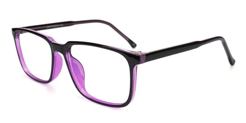 Plateney-Purple-Eyeglasses / Fashion / Lightweight / UniversalBridgeFit