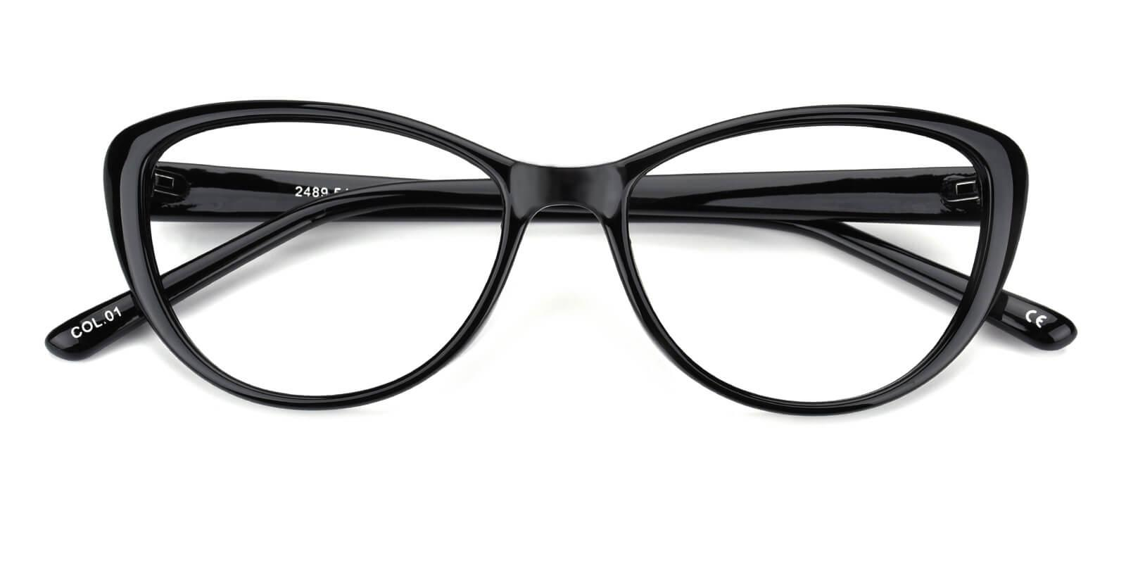 Slackey-Black-Oval / Cat-Acetate-Eyeglasses-detail