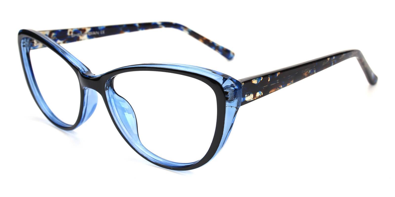 Slackey-Blue-Oval / Cat-Acetate-Eyeglasses-additional1