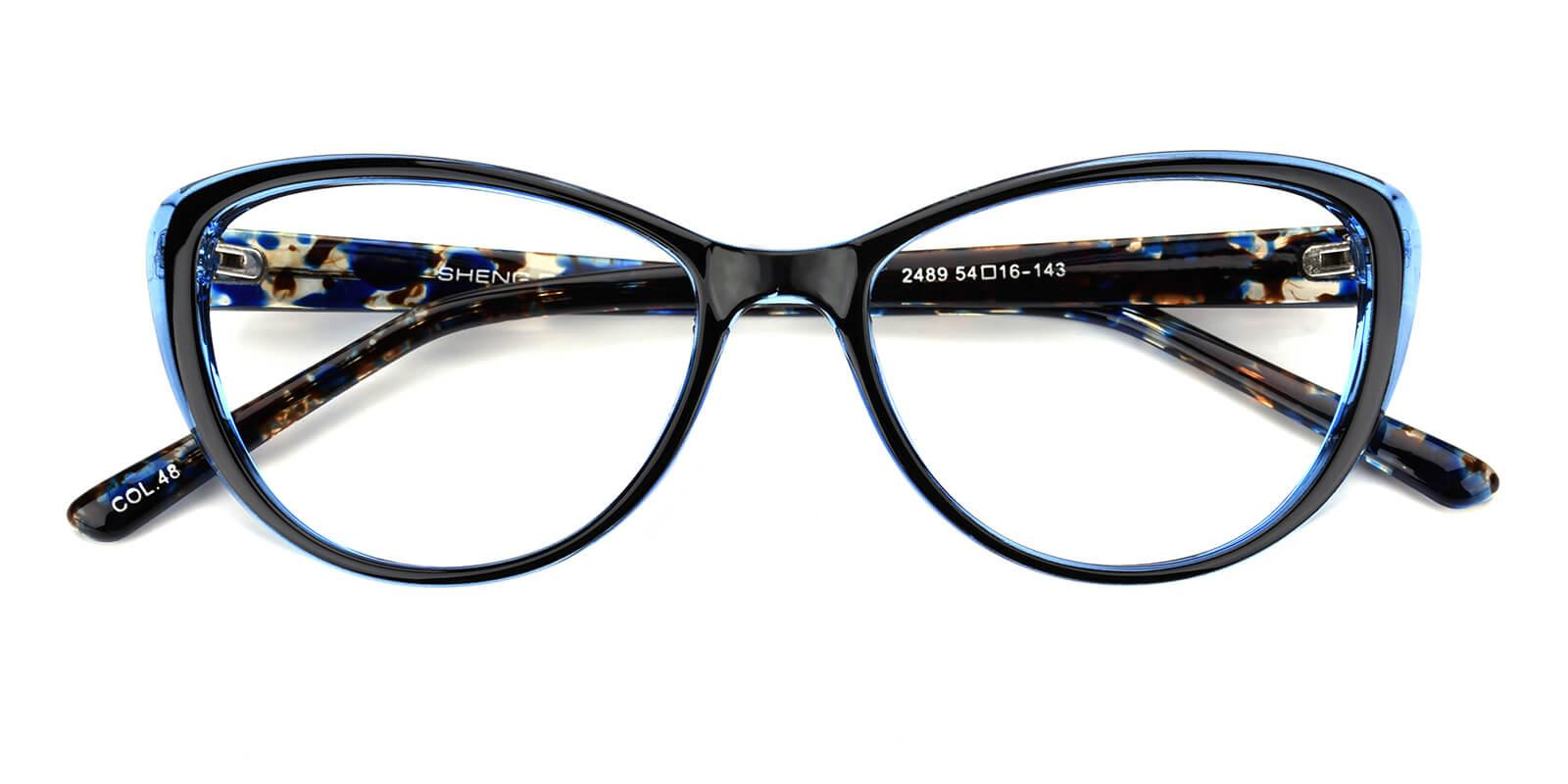 Slackey-Blue-Oval / Cat-Acetate-Eyeglasses-detail