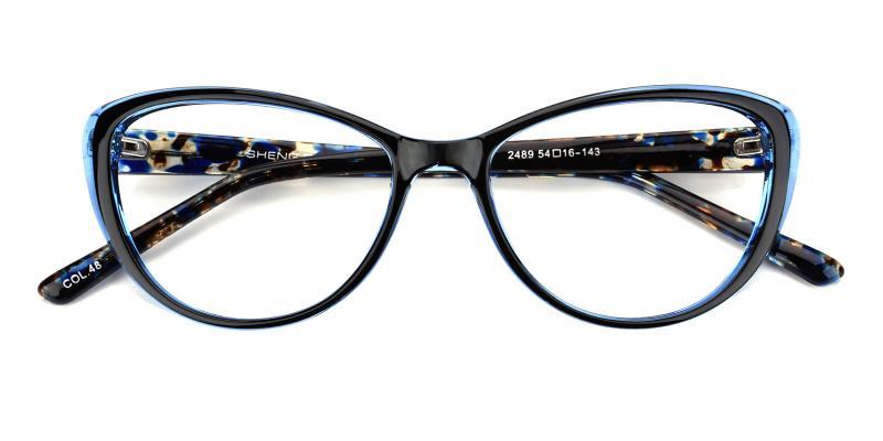 Slackey-Blue-Eyeglasses / Fashion / Lightweight / UniversalBridgeFit