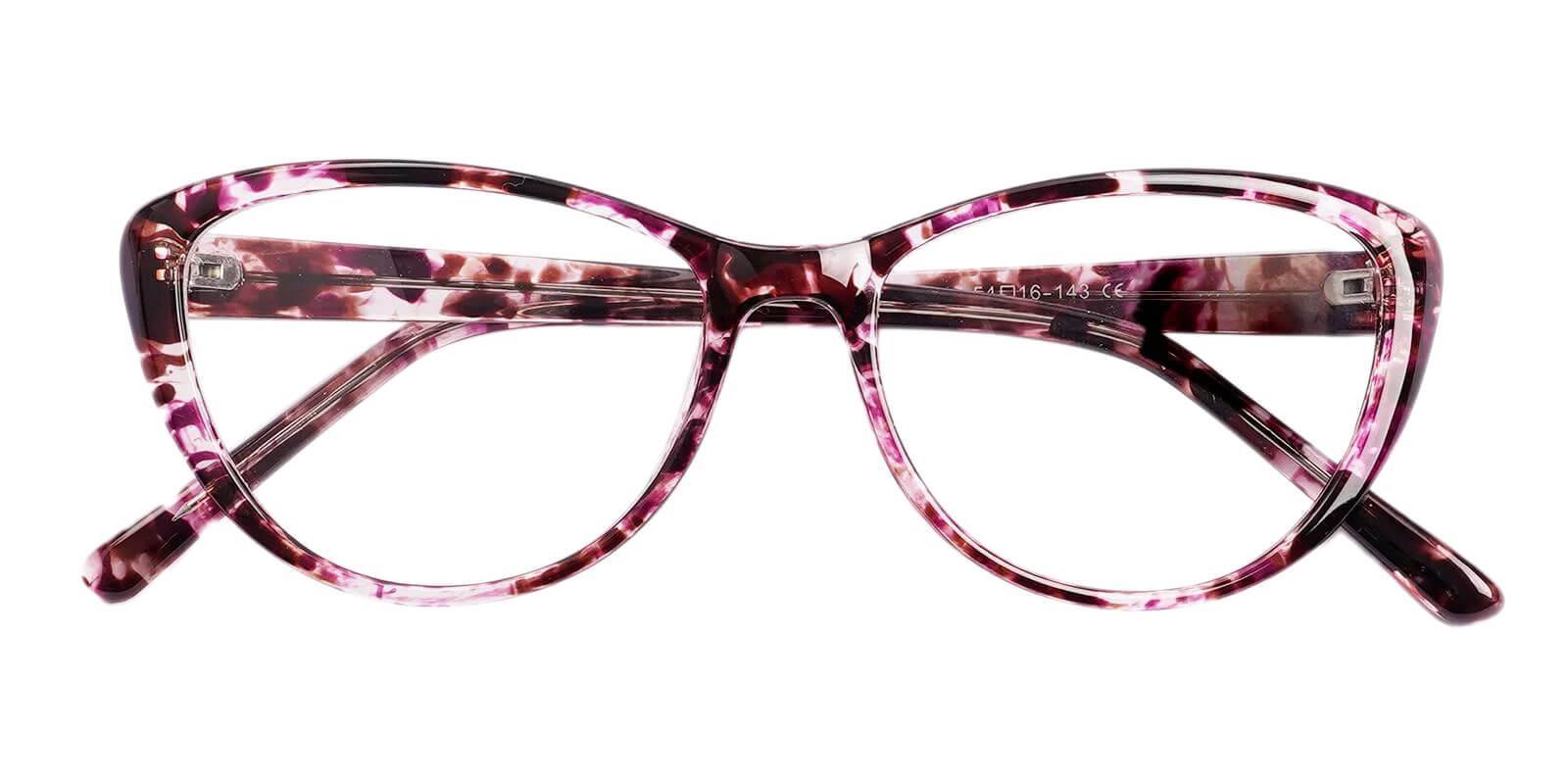 Slackey-Purple-Oval / Cat-Acetate-Eyeglasses-detail