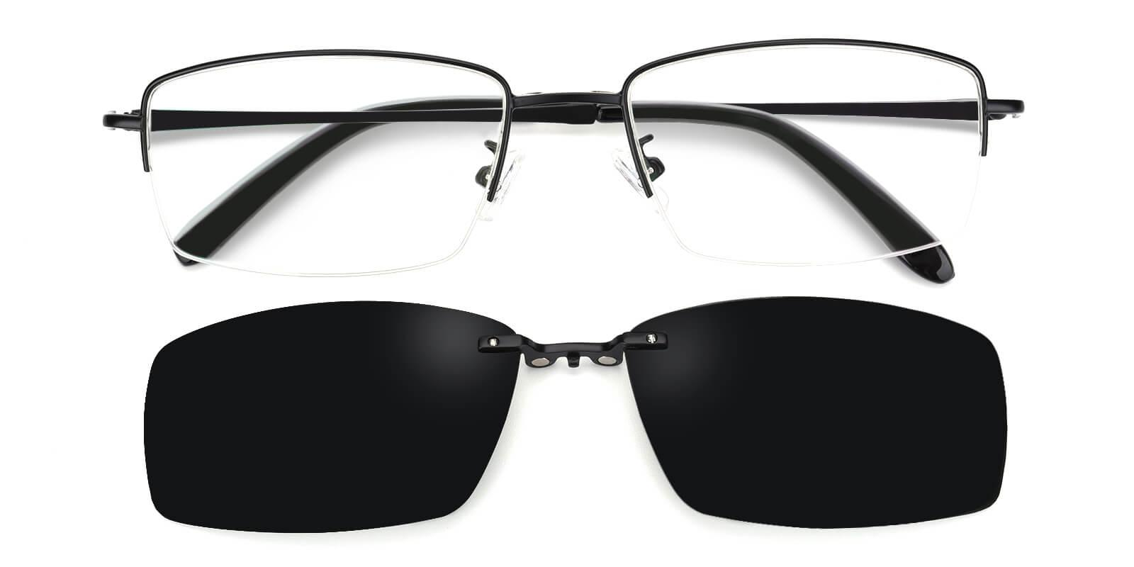 Ray-Black-Rectangle-Metal-Eyeglasses-detail