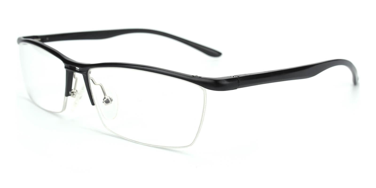 Vauseper-Black-Rectangle-Metal-Eyeglasses-additional1