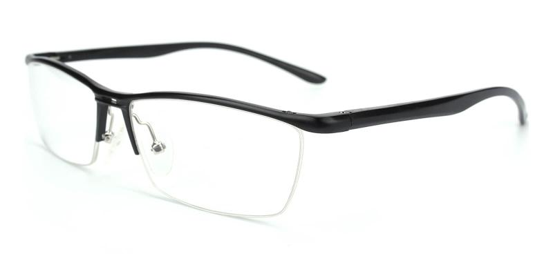 Vauseper-Black-Eyeglasses / Fashion / Lightweight / NosePads / SpringHinges