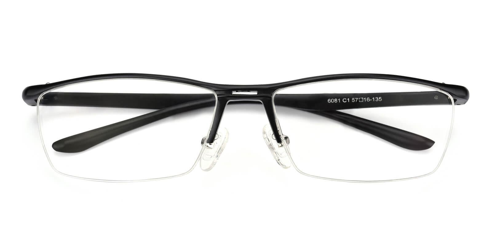 Vauseper-Black-Rectangle-Metal-Eyeglasses-detail