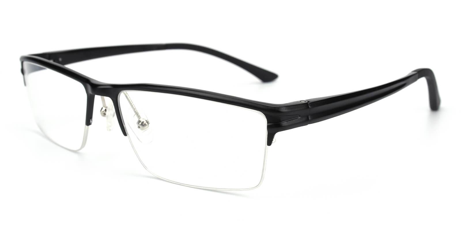 leonado-Black-Rectangle-Metal-Eyeglasses-additional1