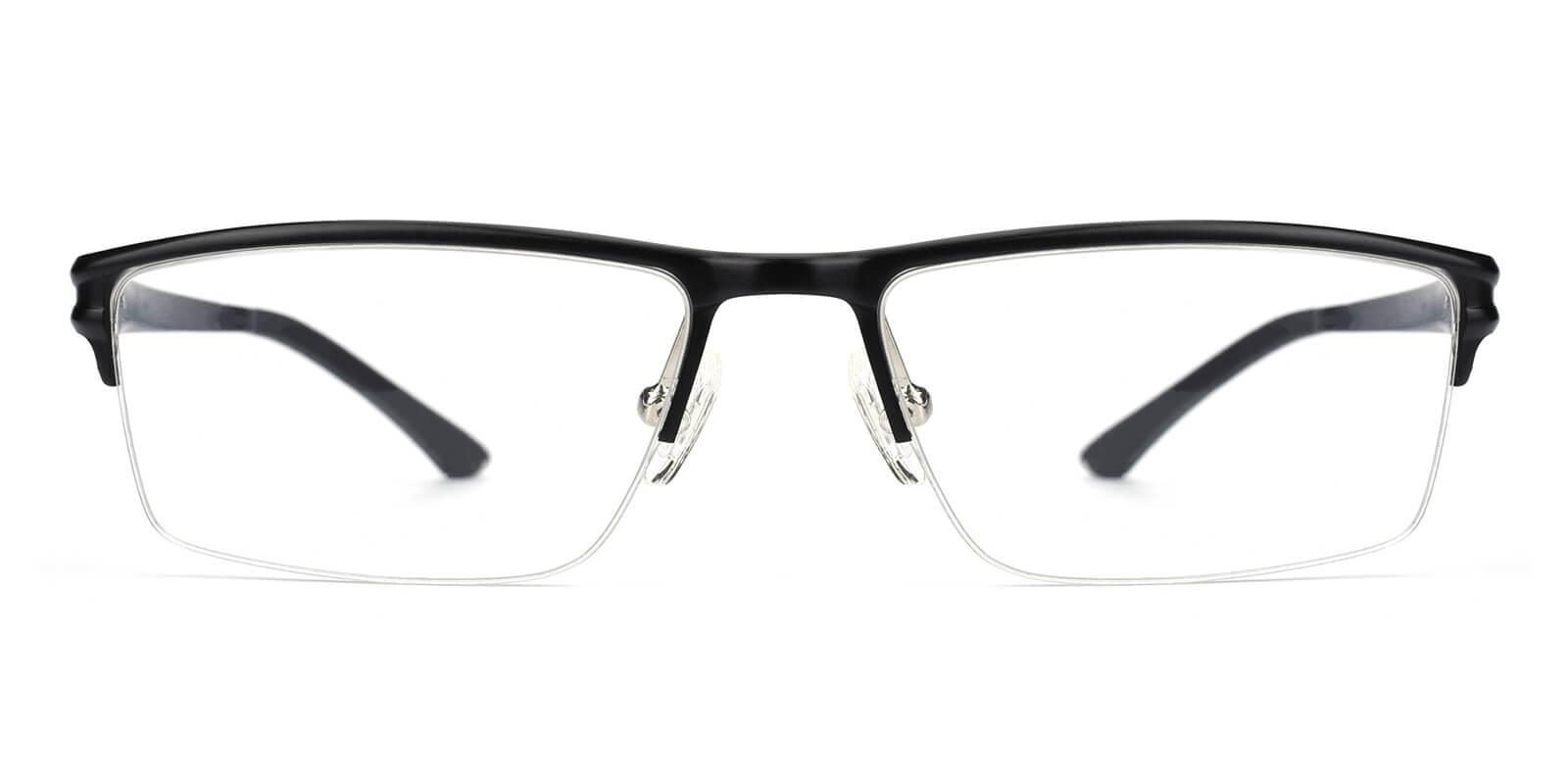 Leonado-Black-Rectangle-Metal-Eyeglasses-additional2