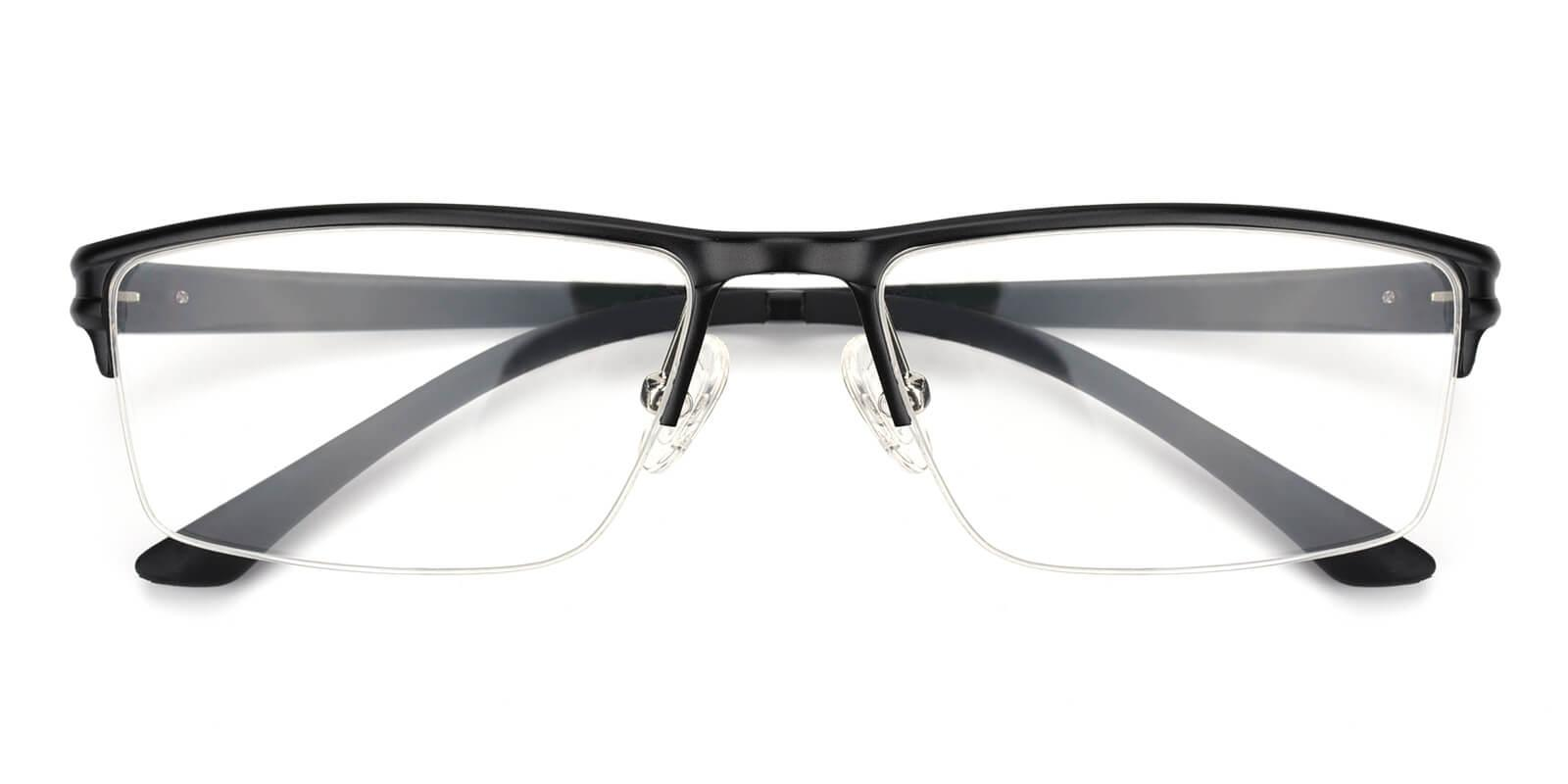 Leonado-Black-Rectangle-Metal-Eyeglasses-detail