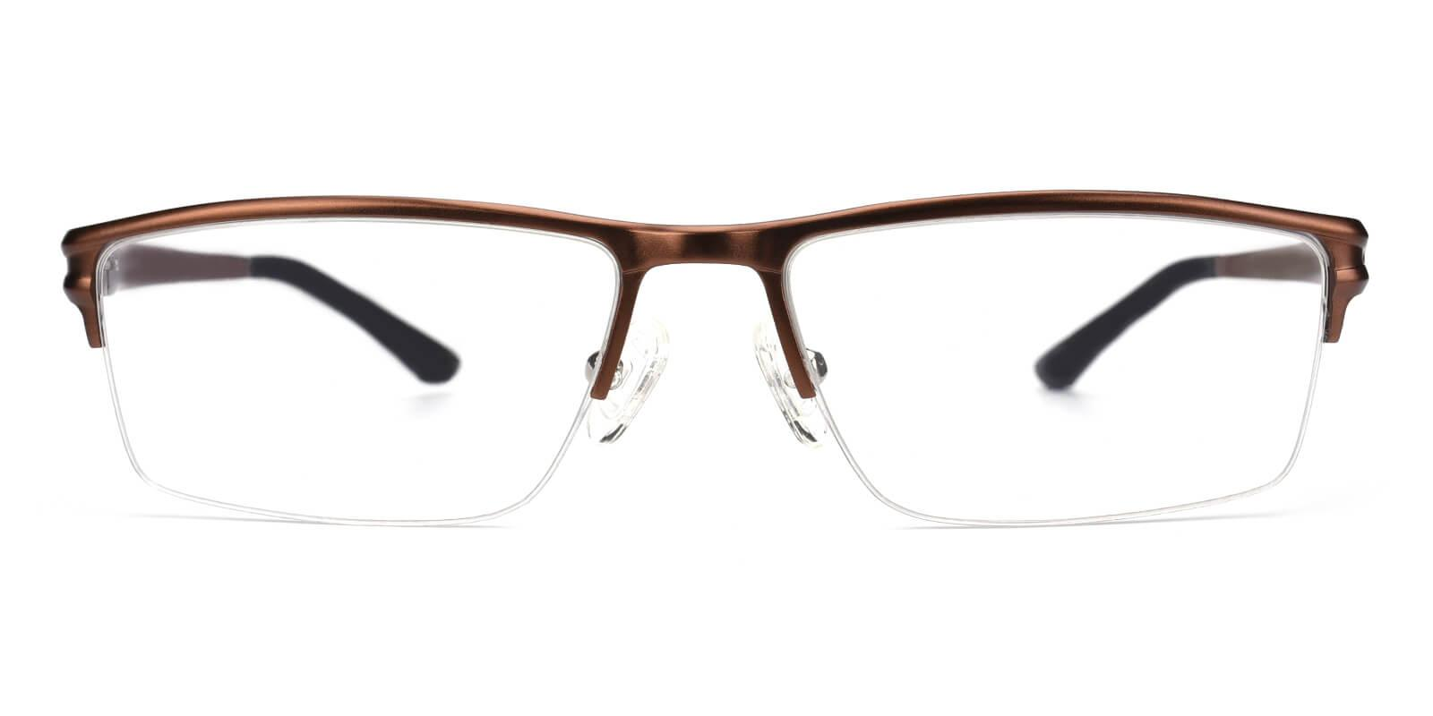 Leonado-Brown-Rectangle-Metal-Eyeglasses-additional2
