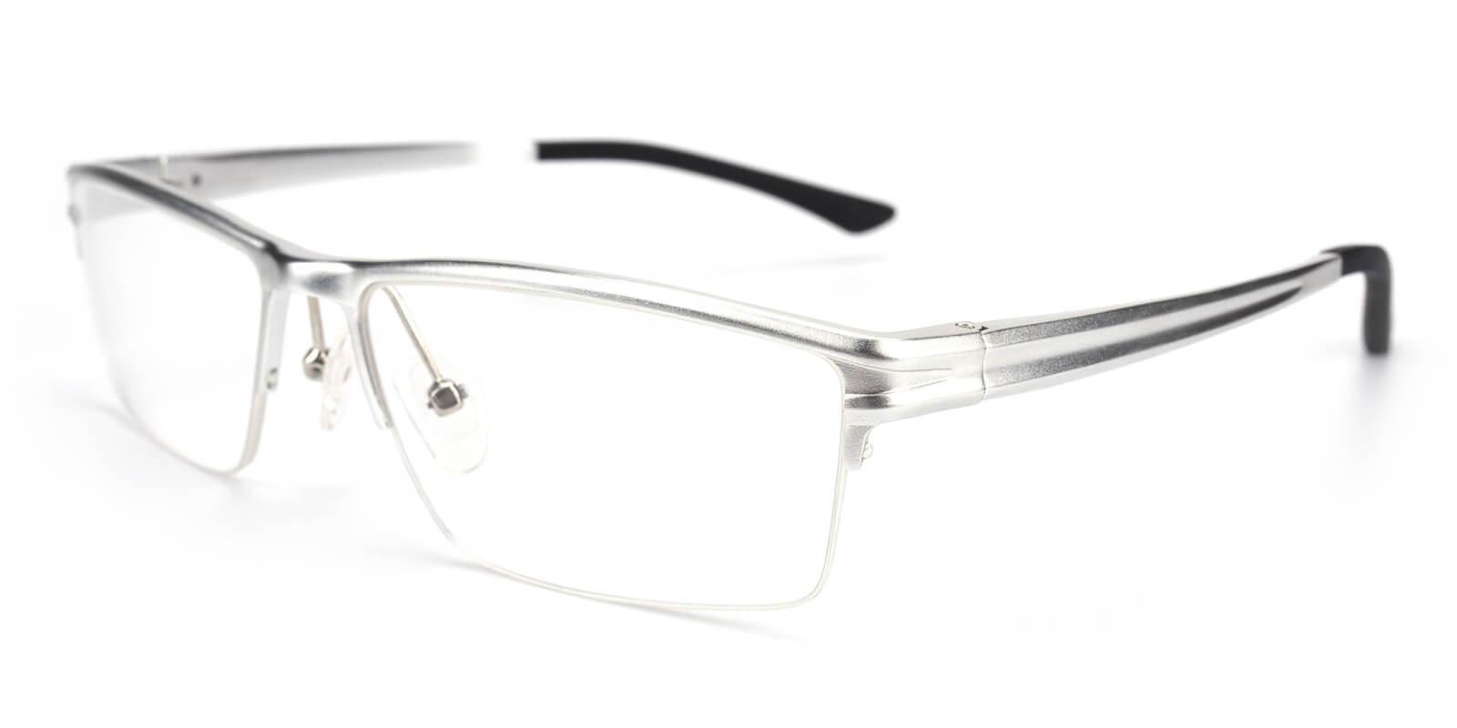 Leonado-Silver-Rectangle-Metal-Eyeglasses-additional1