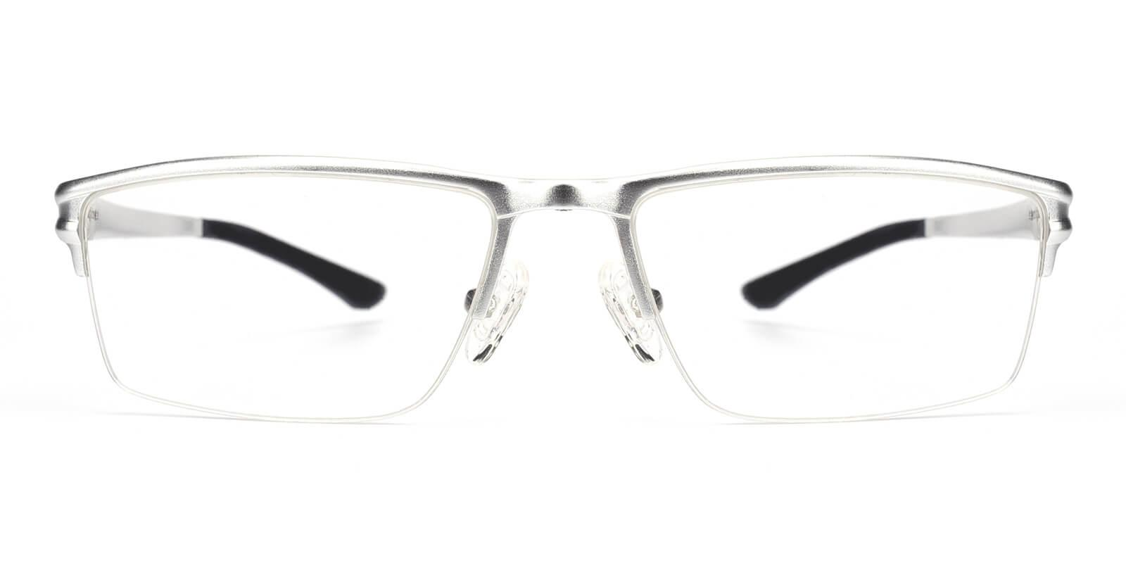 Leonado-Silver-Rectangle-Metal-Eyeglasses-additional2