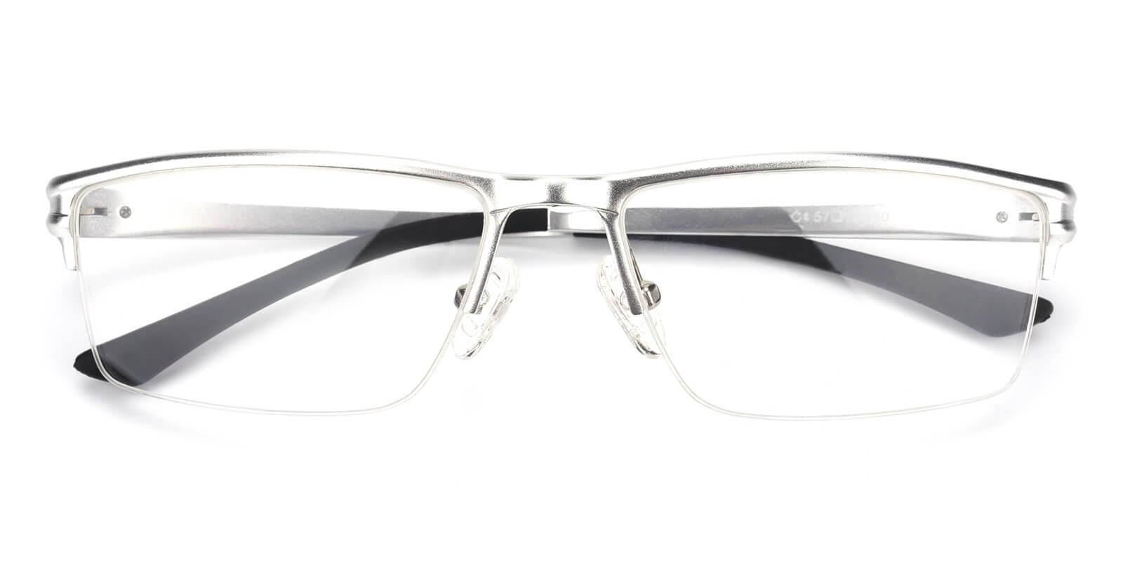 Leonado-Silver-Rectangle-Metal-Eyeglasses-detail