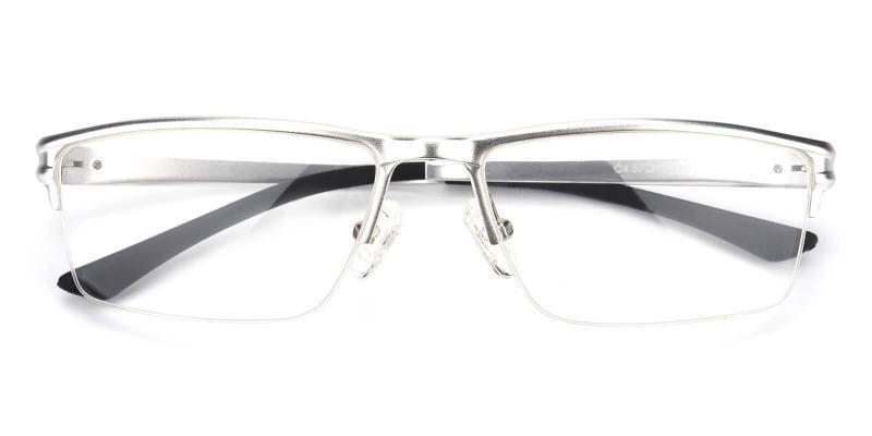 Leonado-Silver-Eyeglasses
