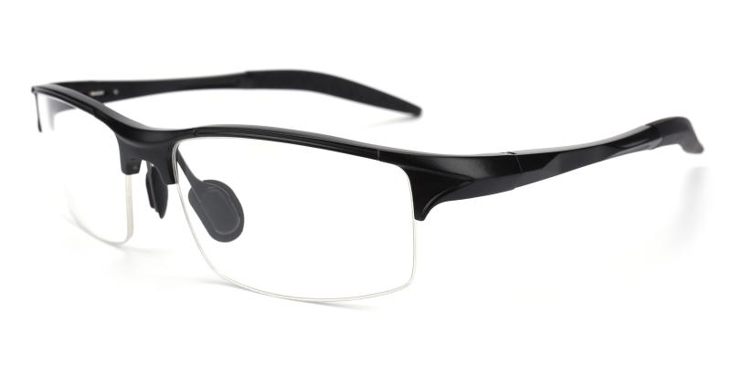 Darily-Black-Eyeglasses / NosePads / SportsGlasses / SpringHinges